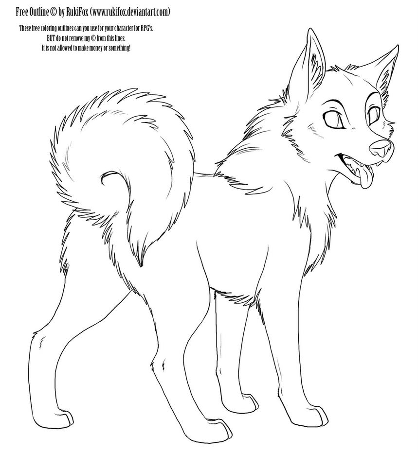 adult Dog Outline by RukiFox ...