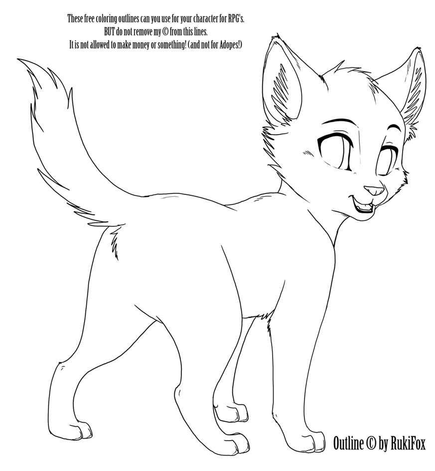 kitten02 outline by rukifox on deviantart