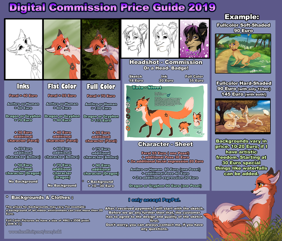 Commission price guide 2019 - edit