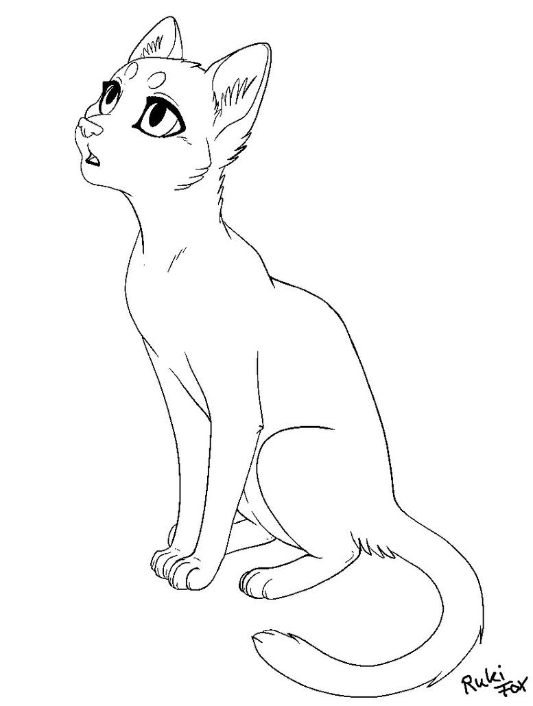 Cat Template 02 2014 for paint by RukiFox on DeviantArt