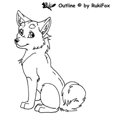 Doggi-Outline by RukiFox