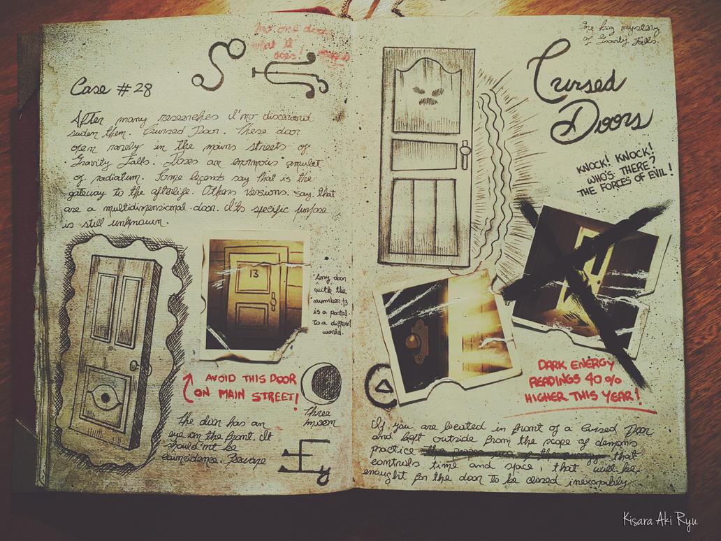 Cursed Doors Journal 3 Gravity Falls By Kisaraakiryu On