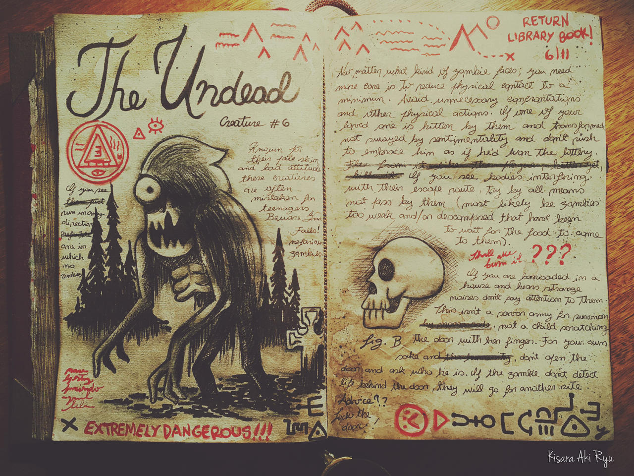 The Undead Journal 3 Gravity Falls By Kisaraakiryu On