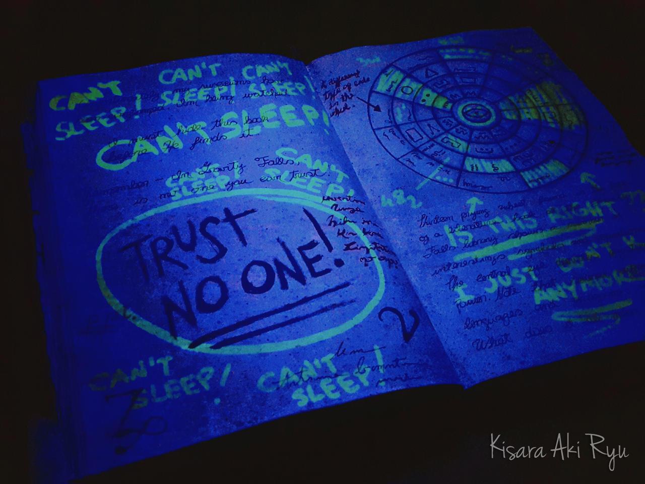 Can't Sleep! 2 (Uv Light) Journal 3 Gravity Falls By