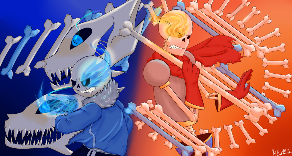 sans and papyrus battle by kitty4915 on deviantart