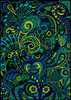 Dame Doodle Blue