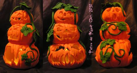 Pumpkin Tea Light Holder Day