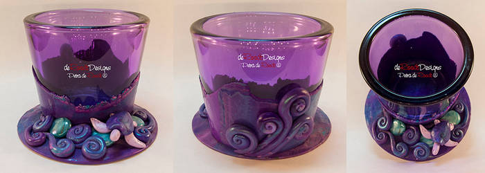 Purple Tealight Glass by spaceship505