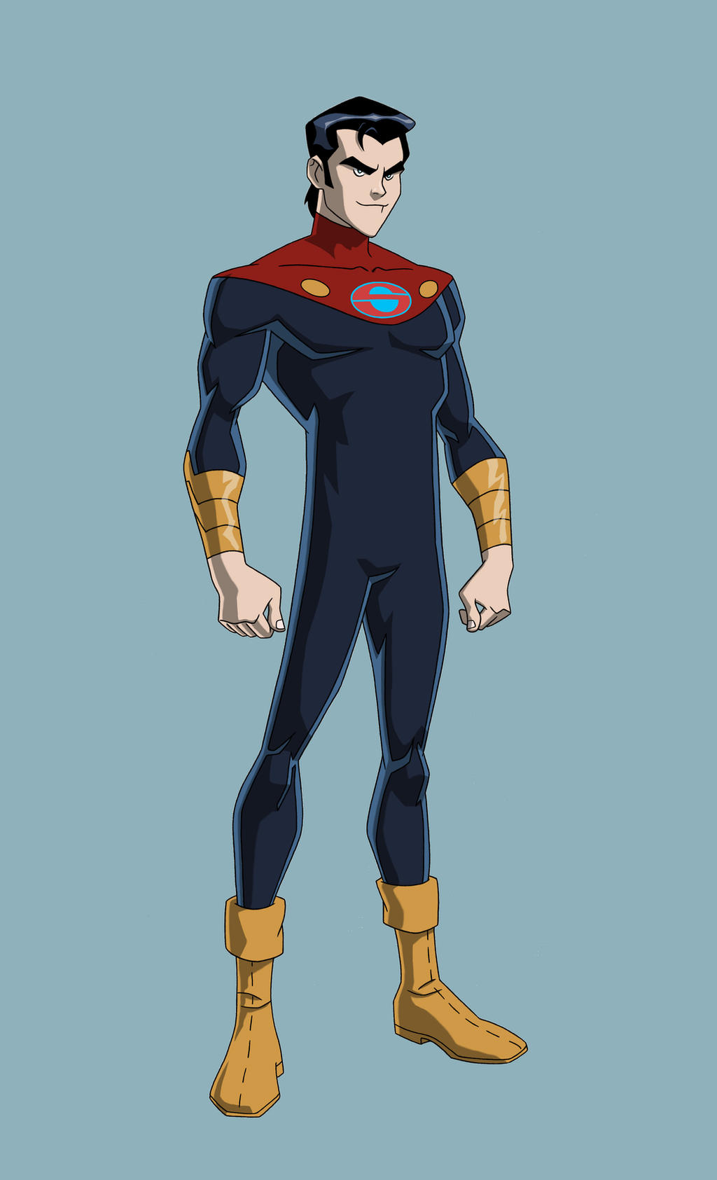 JL: CRISIS ON 2 EARTHS - CAPTAIN SUPER Jr. by Jerome-K-Moore
