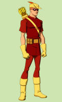 YOUNG JUSTICE: SPEEDY 'crf' by Jerome-K-Moore