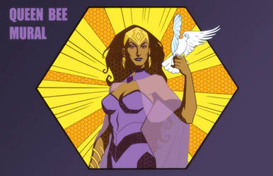 YOUNG JUSTICE: QUEEN BEE MURAL by Jerome-K-Moore