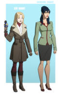 YOUNG JUSTICE: CAT GRANT and CATHERINE COBERT