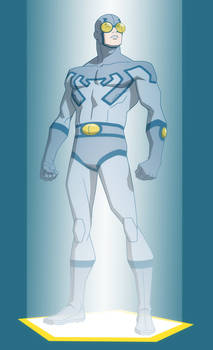YOUNG JUSTICE: INVASION: BLUE BEETLE MEMORIAL HOLO