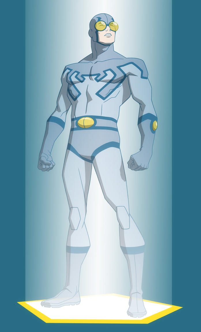 Young justice invasion blue beetle memorial holo by jerome k moore