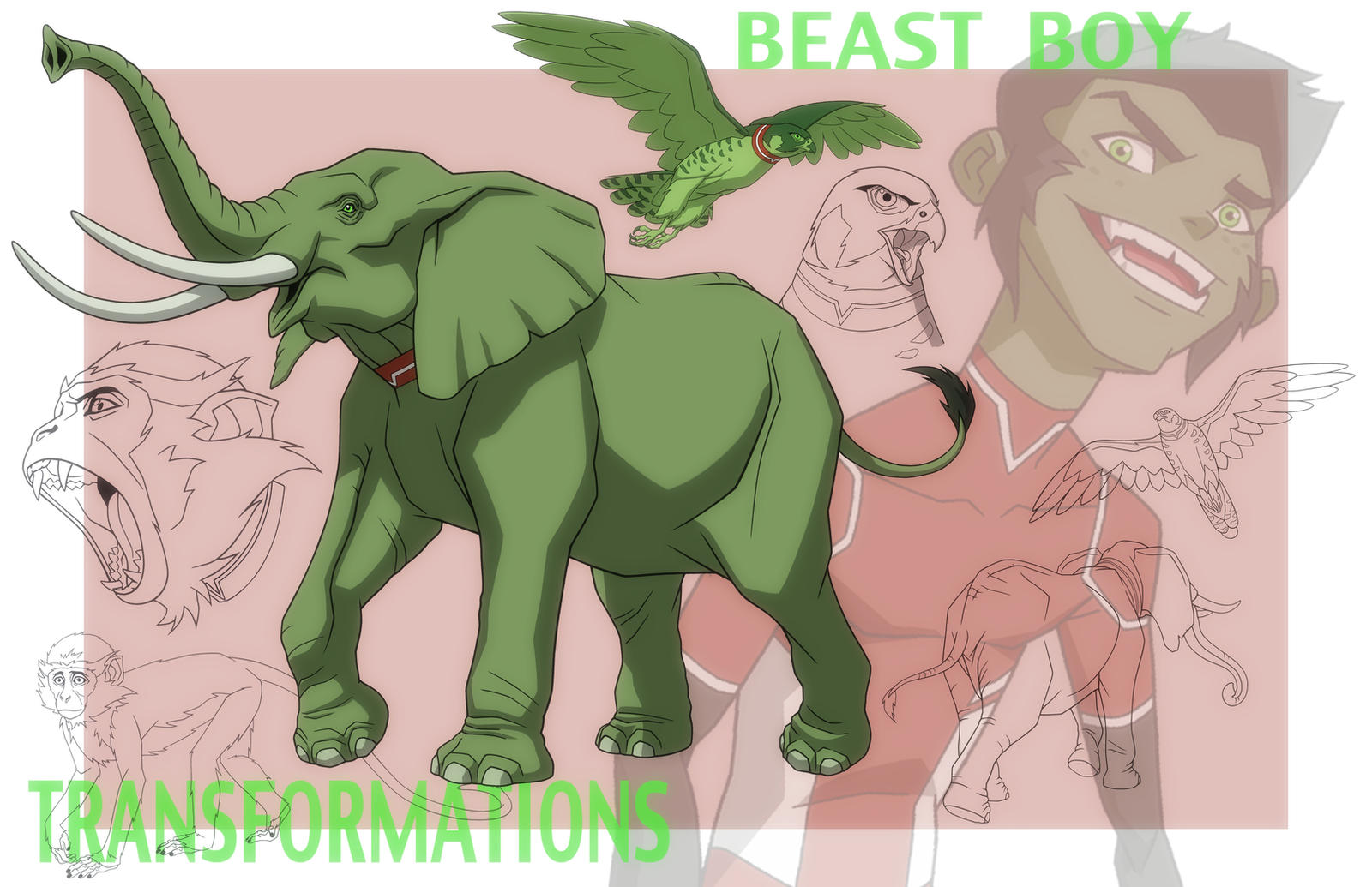 YOUNG JUSTICE: BEAST BOY TRANSFORMATIONS by Jerome-K-Moore