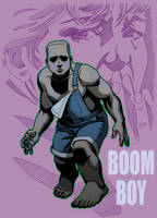 MALIBU COMICS TRADING CARD ART: FREEX, BOOM BOY by Jerome-K-Moore