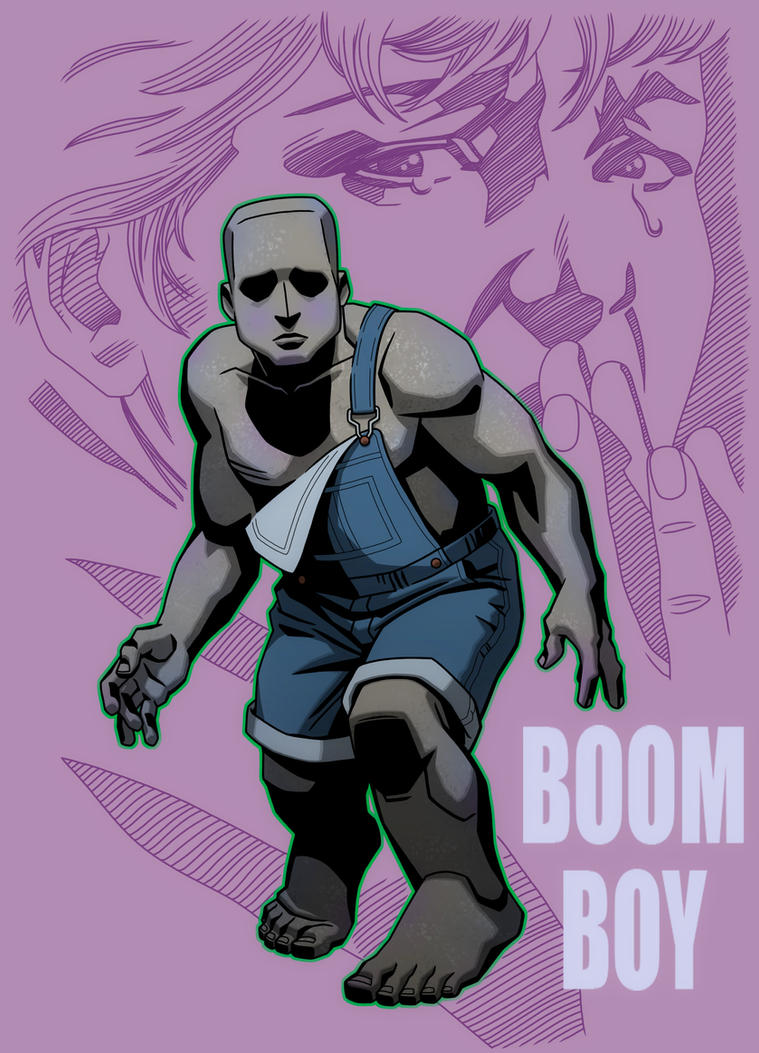 MALIBU COMICS TRADING CARD ART: FREEX, BOOM BOY by Jerome-K-Moore