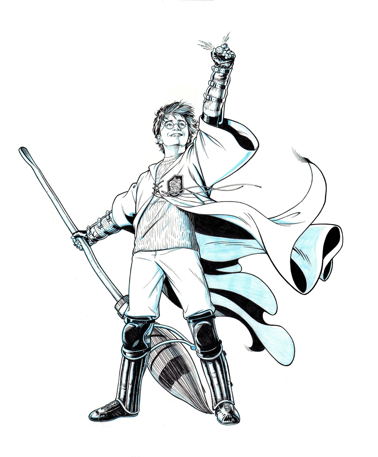 Harry Potter Coloring Pages Quidditch HARRY POTTER: G...