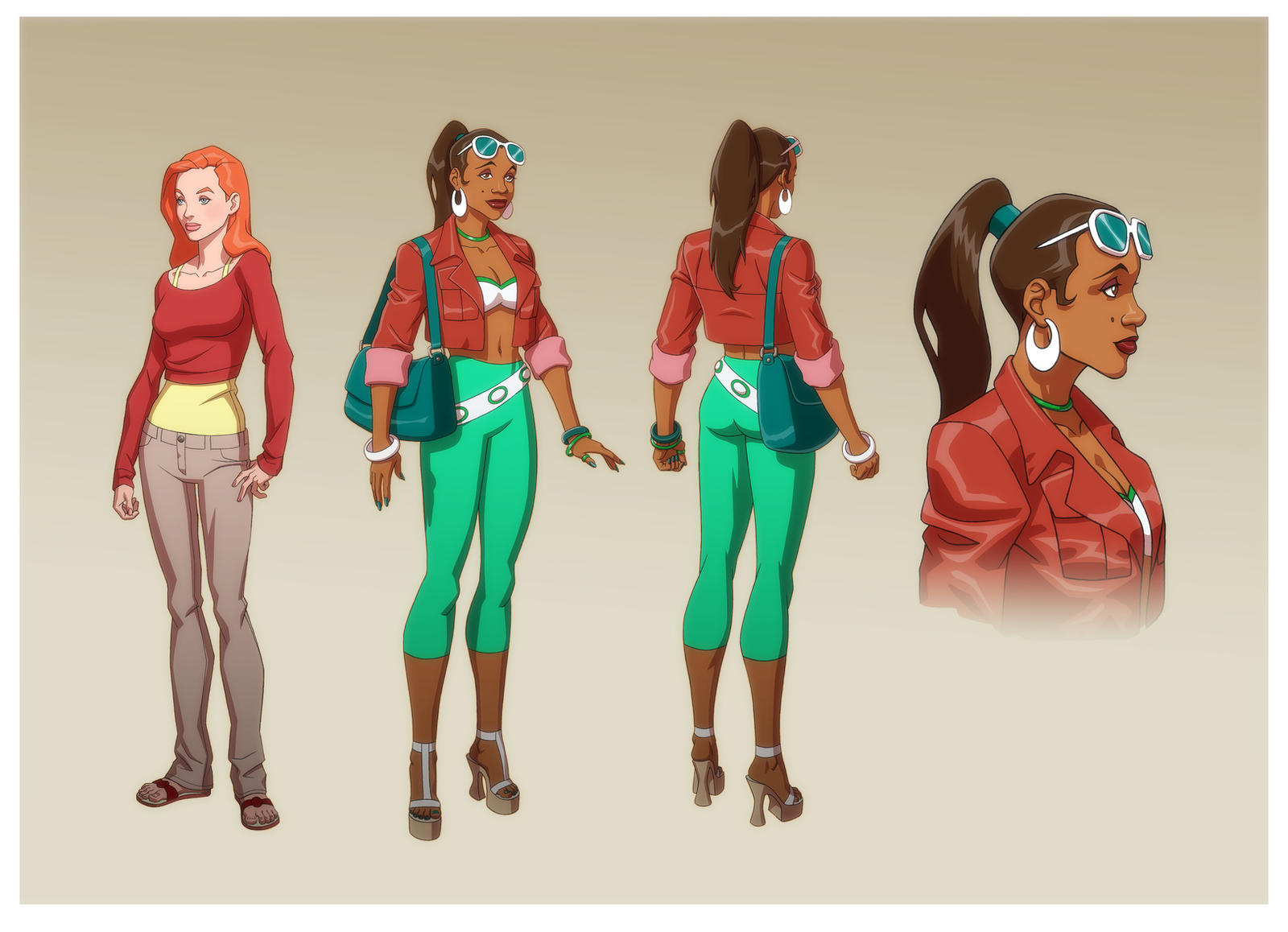 WB ANIMATION: FEMALE EXTRAS by Jerome-K-Moore