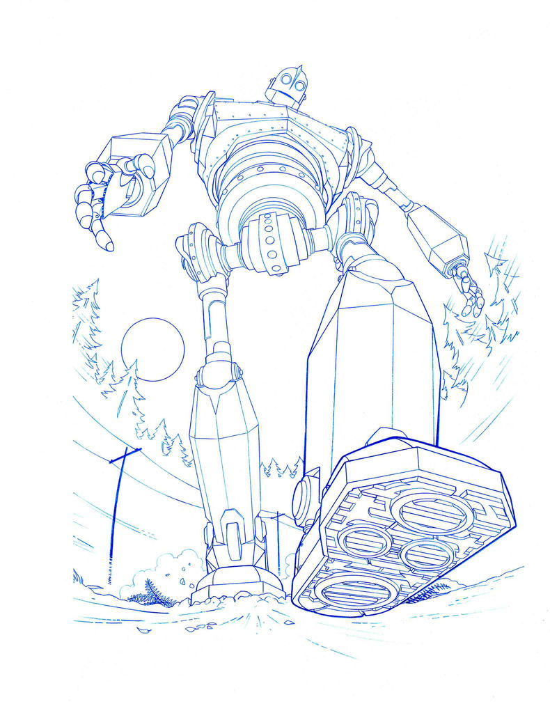 coloring pages iron giant boy - photo#16
