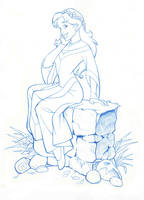 QUEST FOR CAMELOT: KAYLEY seated 1 by Jerome-K-Moore