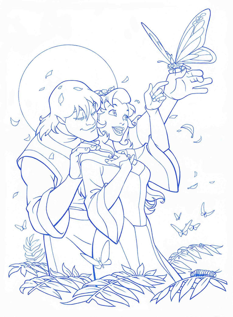 Quest for camelot kayley and garrett by jerome k moore on for Quest for camelot coloring pages