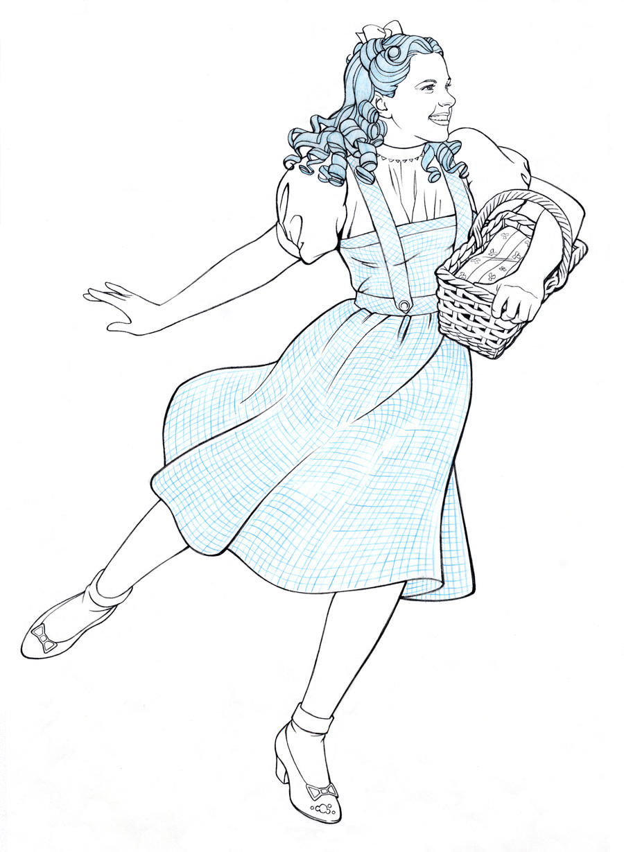 dorothy wizard of oz coloring pages - dancing dorothy by jerome k moore on deviantart