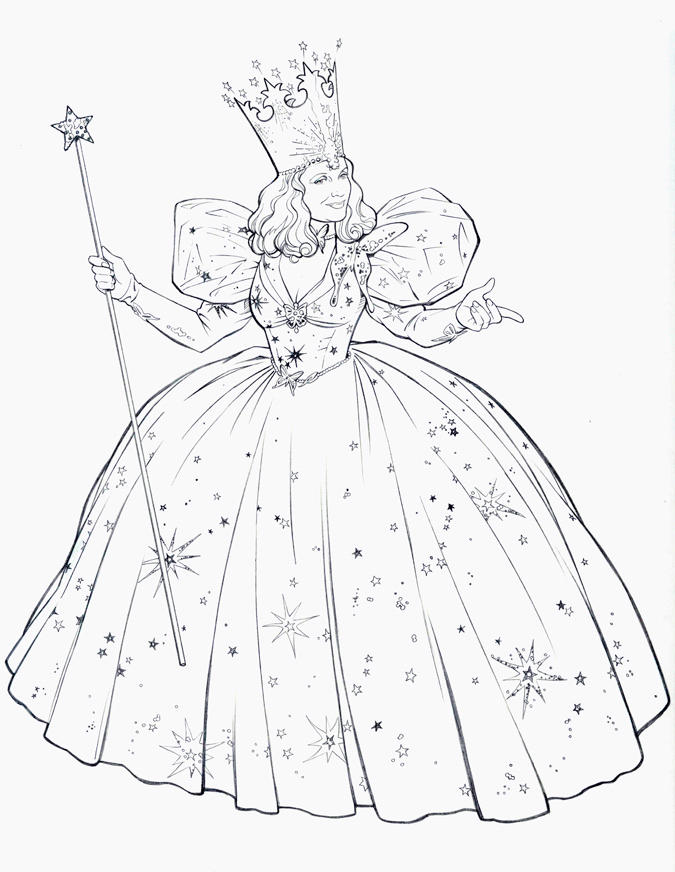 Line Drawing Of Witches Face : Glinda the good witch by jerome k moore on deviantart