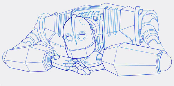 coloring pages iron giant boy - photo#1