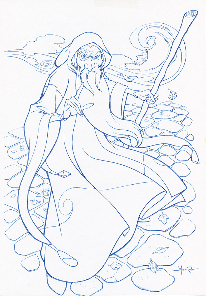 Quest for camelot merlin the wizard by jerome k moore on for Quest for camelot coloring pages