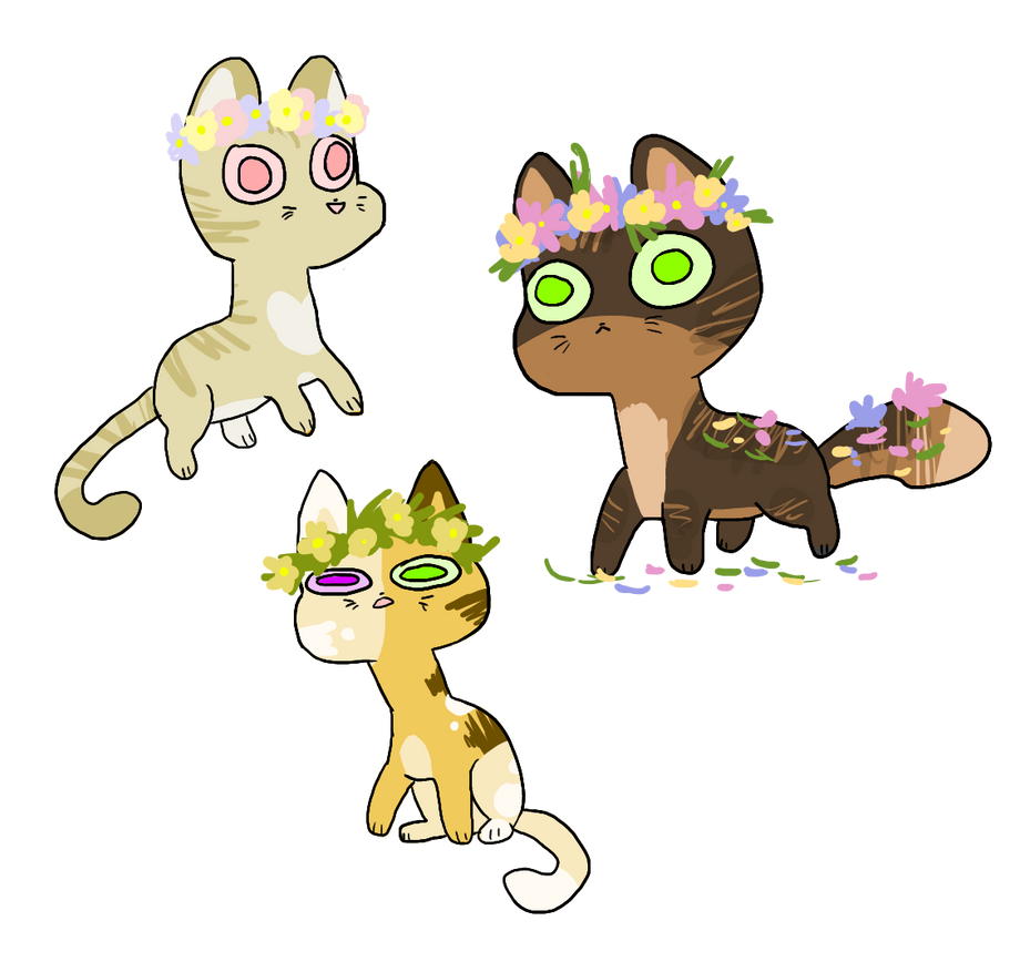 Flower Crown Cat Adopts 30 Points By Meowtownpolice On Deviantart