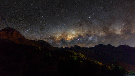 Milky Way on the hills of Las Melosas