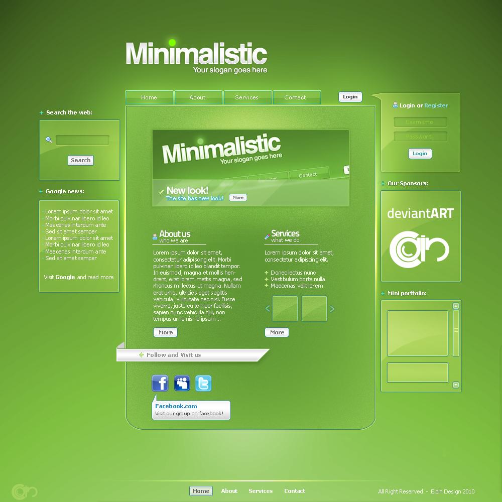 Minimalistic web by eLdIn94