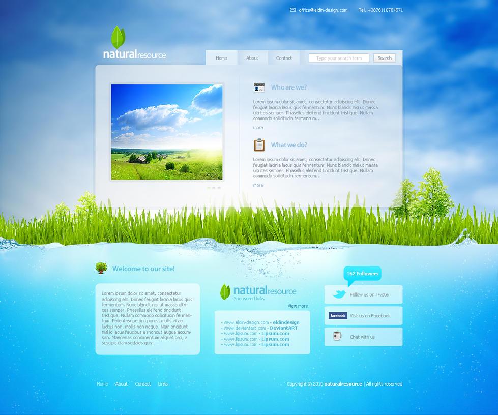 naturalresource Web template by eLdIn94