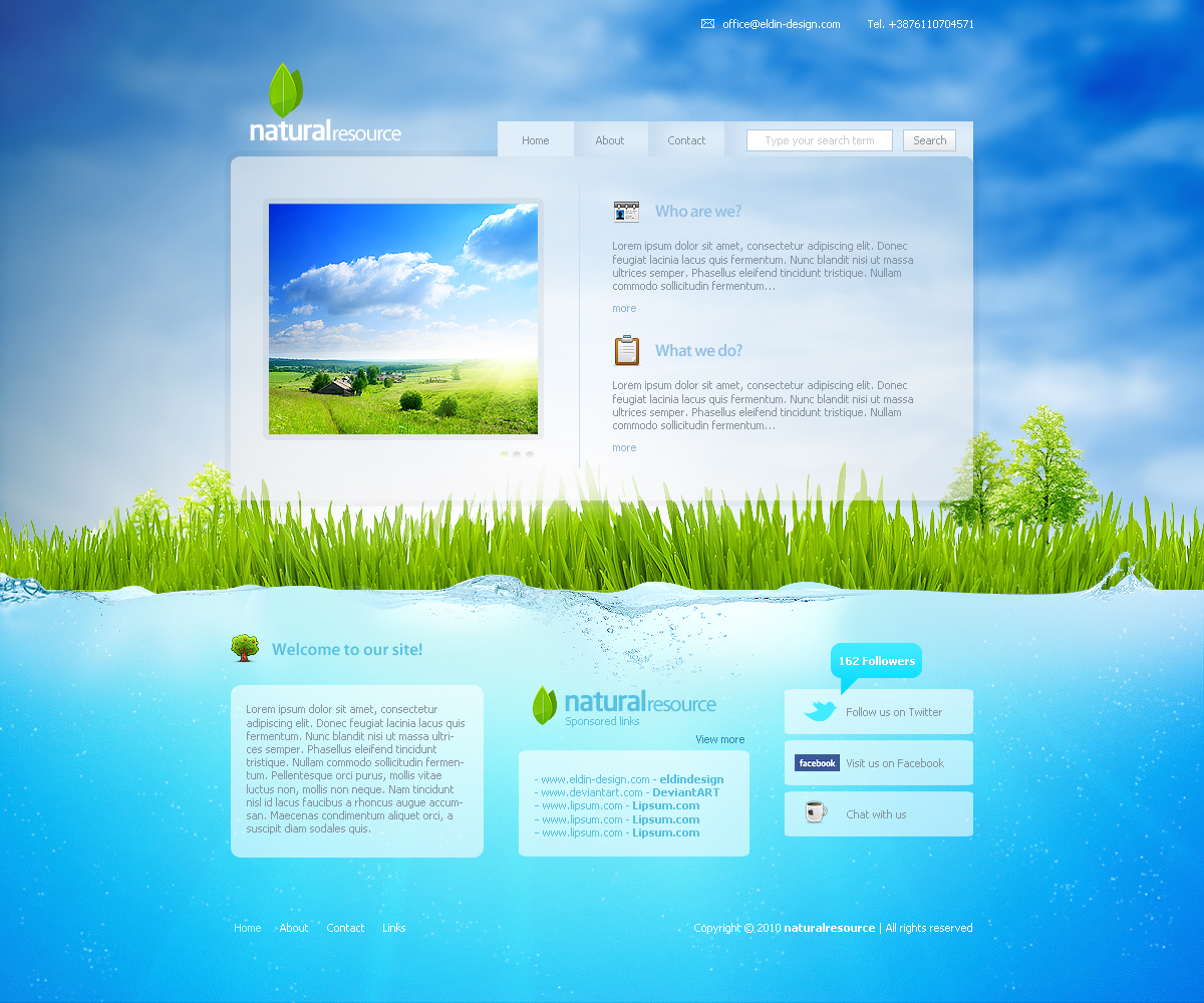 naturalresource Web template by eLdIn94