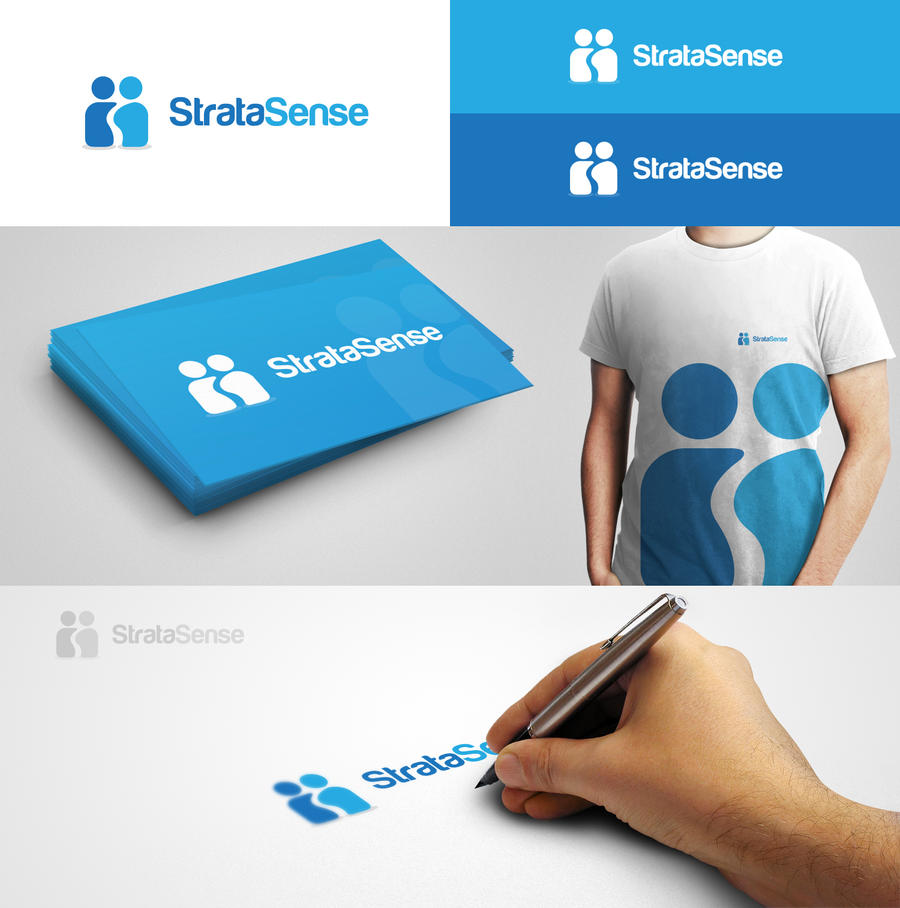 StrataSense logo design by eLdIn94