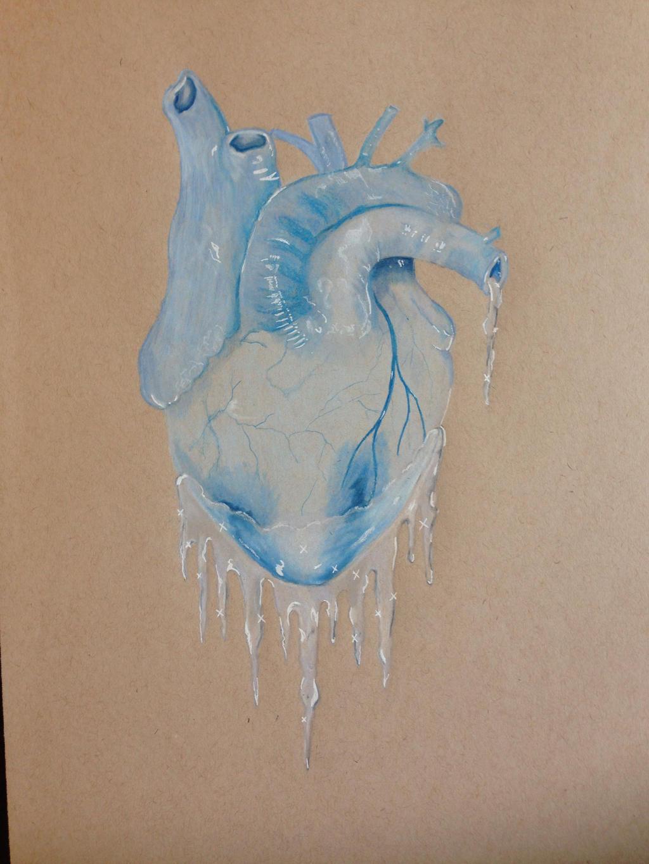 Melting Heart Of Ice Royalty Free Stock Photo - Image