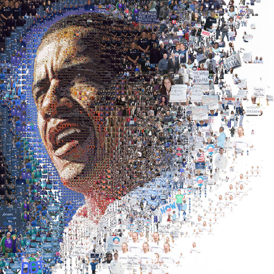 Obama Collage by Jailem