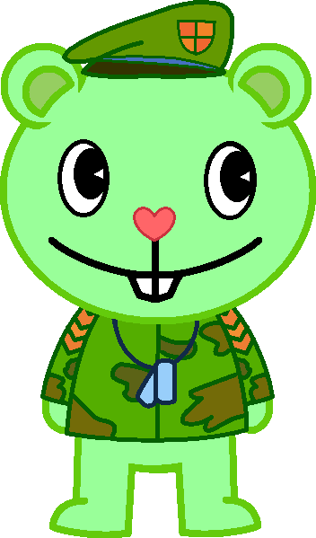 Flippy the cute Happy Tree Friends Bear by SolarFluffy on ...