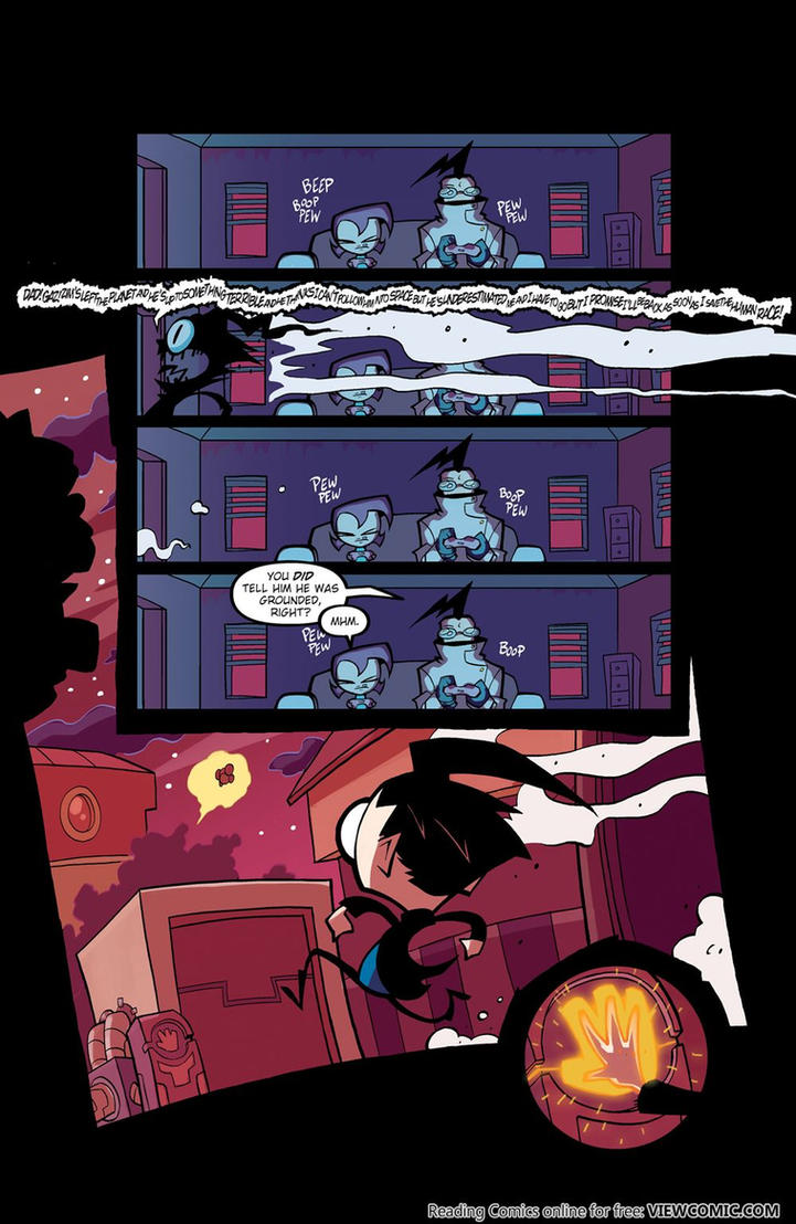 Invader Zim Comic #1 Page 21 (my fav page ) by Slurpythenobblefox