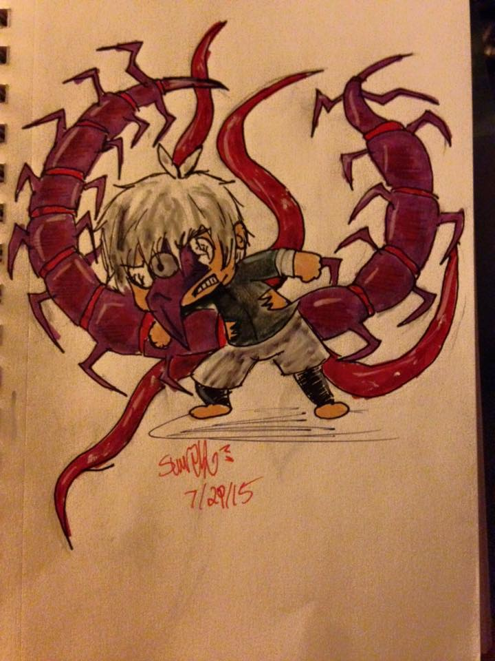 Chibi Kaneki: Grrrrrahhhh!! W-weak!!!Nugh!!! by Slurpythenobblefox