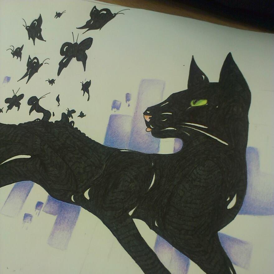 Black cat~ by CrazyWolfka