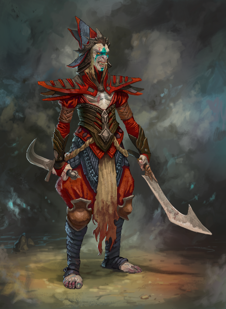 Demon Monk by ncorva