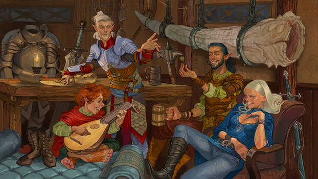 DnD Party Portrait by ncorva