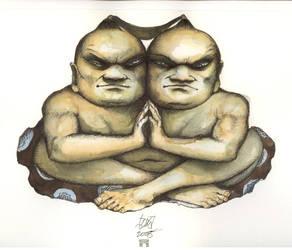 siamese sumo samurai by HOMELYVILLAIN