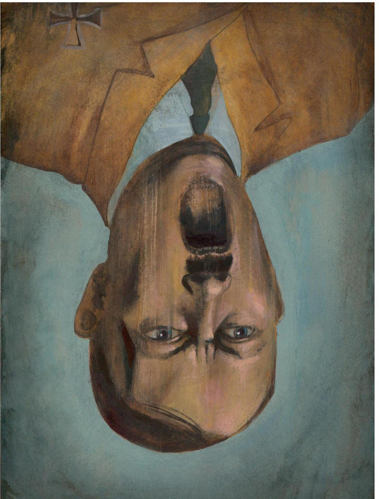 Upside Down Art Upside Down Screaming Hitler By Homelyvillain On Deviantart