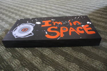 I'm In Space Painted Board 1 by Hufflepuff-Disney