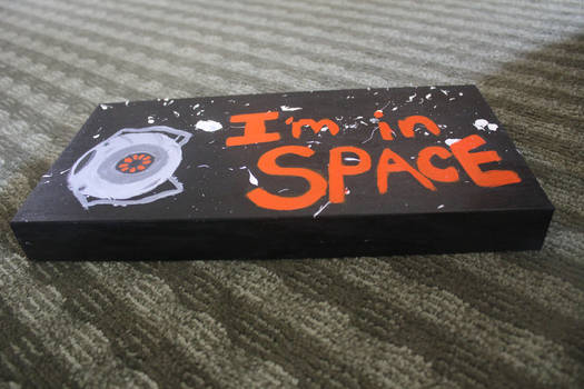 I'm In Space Painted Board 1