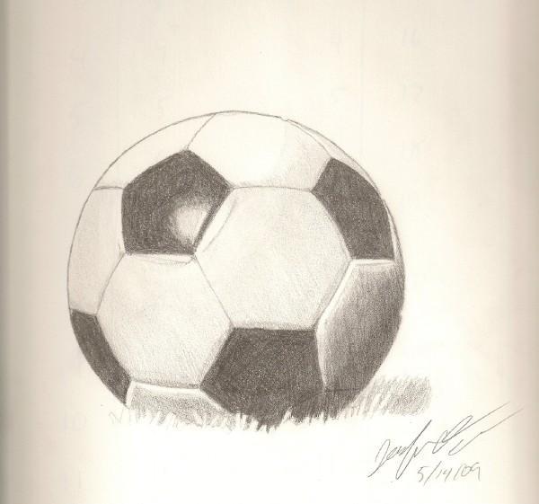 Soccer Ball Drawing Soccer Ball by ...