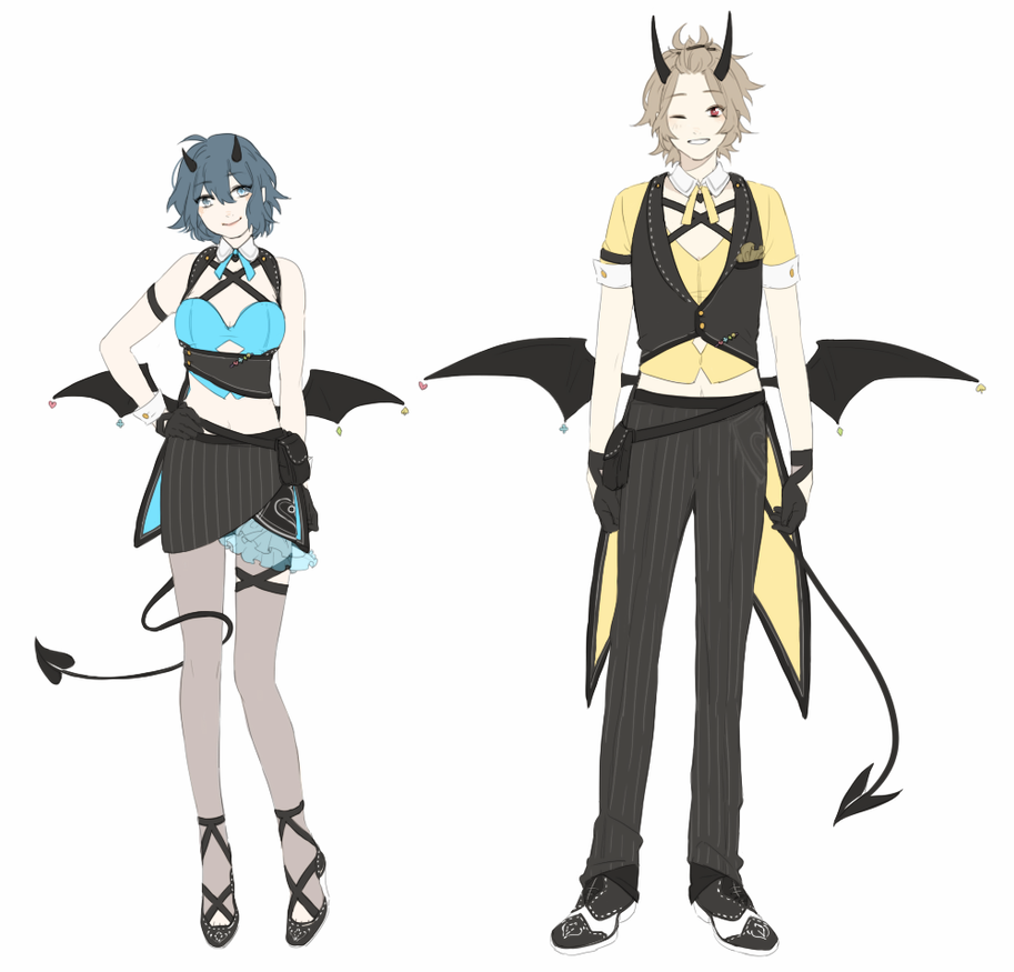 Devil's Gamble Uniforms by creamboys